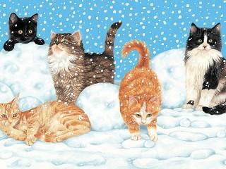 Собирать пазл Игры в снегу онлайн
