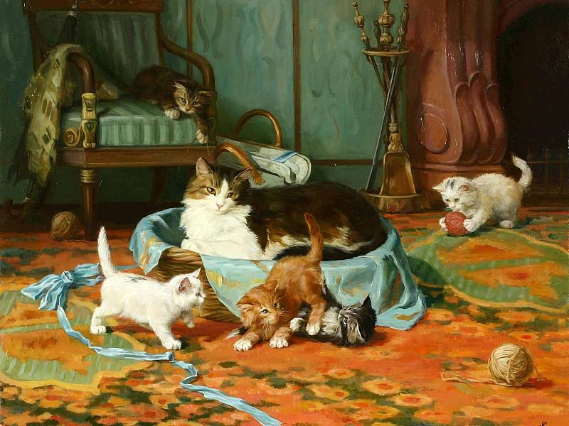фарингит картинка кошка с котятами по ушаковой стилистику