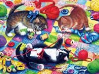 Собирать пазл Игривые котята онлайн