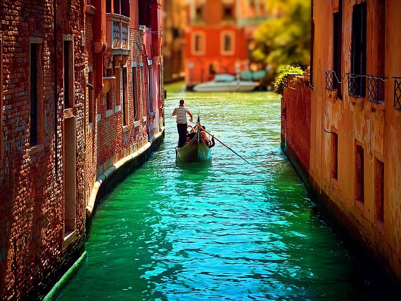 Пазл Собирать пазлы онлайн - Игрушечная Венеция