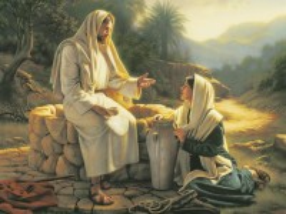 Собирать пазл Иисус и девушка онлайн
