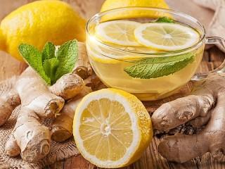 Собирать пазл Имбирный чай и лимон онлайн