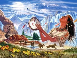 Собирать пазл Индейская магия онлайн