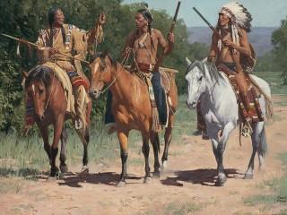 Собирать пазл Индейцы онлайн