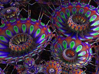 Собирать пазл Инопланетные цветы онлайн