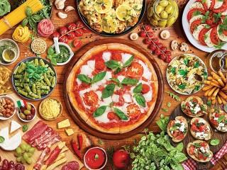 Собирать пазл Итальянская кухня онлайн