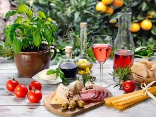 Собирать пазл Итальянский завтрак онлайн
