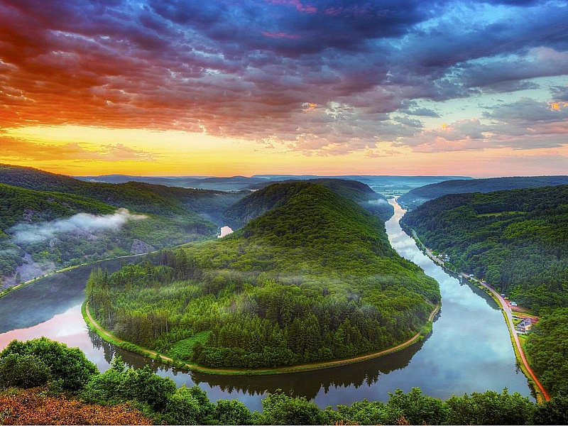 Пазл Собирать пазлы онлайн - излучина реки