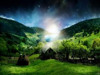 Собирать пазл Изумительный пейзаж онлайн