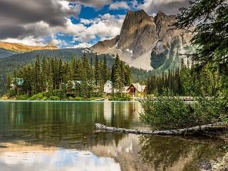 Собирать пазл Изумрудное озеро онлайн