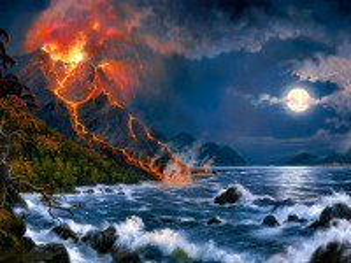 Собирать пазл Извержение вулкана онлайн