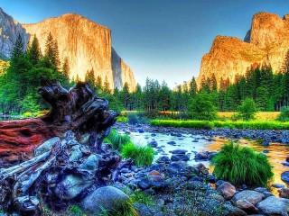 Собирать пазл Йосемитский парк онлайн