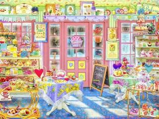 Собирать пазл Кафе сладостей онлайн