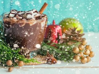 Собирать пазл Какао под снегом онлайн