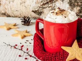 Собирать пазл Какао со сливками онлайн