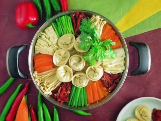 Собирать пазл Калейдоскоп из еды онлайн