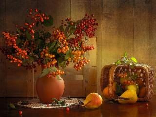 Собирать пазл Калиновые ягоды онлайн