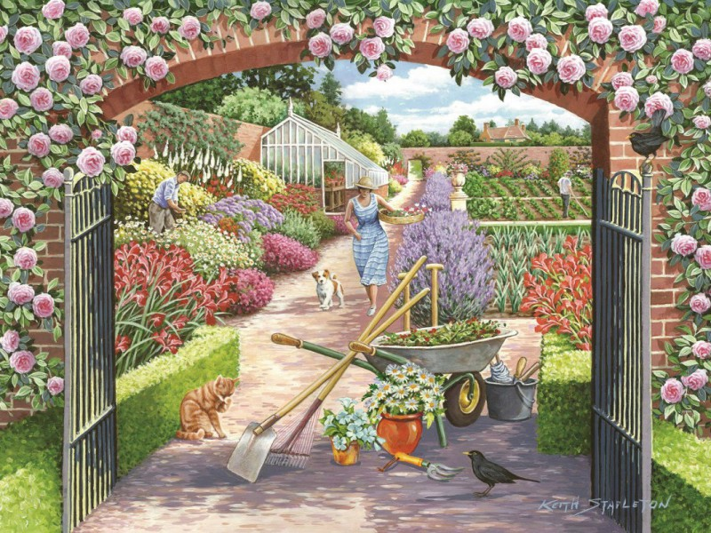 Пазл Собирать пазлы онлайн - Калитка в сад