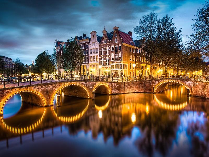Пазл Собирать пазлы онлайн - Каналы Амстердама