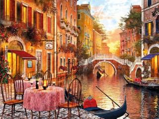 Собирать пазл Каналы Венеции онлайн
