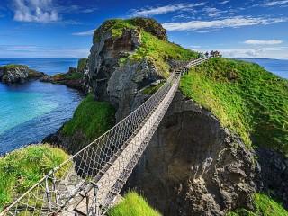 Собирать пазл Канатный мост онлайн