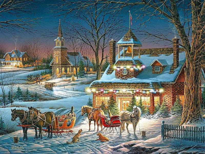 Пазл Собирать пазлы онлайн - Канун Рождества