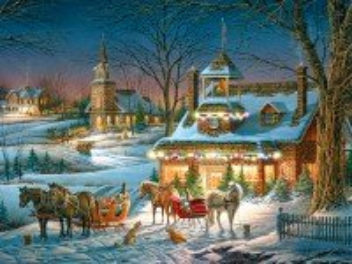 Собирать пазл Канун Рождества онлайн