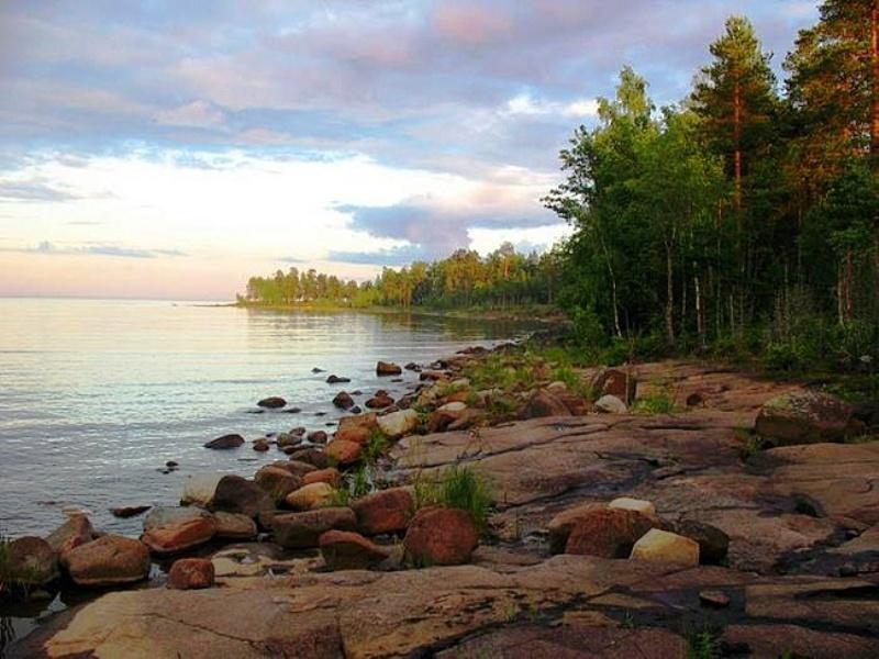 Пазл Собирать пазлы онлайн - Озеро в Карелии
