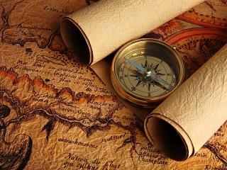 Собирать пазл Карты и компас онлайн