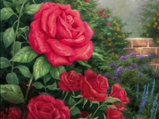 Собирать пазл Красные розы онлайн