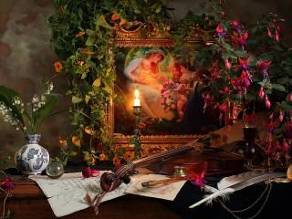 Собирать пазл Картина в цветах онлайн