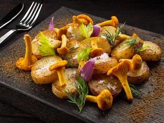 Собирать пазл Картошка с грибами онлайн