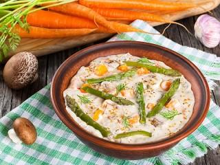 Собирать пазл Каша с овощами онлайн