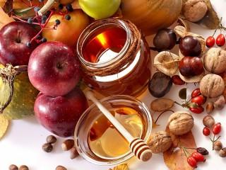 Собирать пазл Каштаны яблоки орехи онлайн