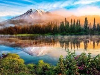 Собирать пазл Каскадные горы онлайн