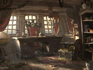 Собирать пазл Каюта пирата онлайн