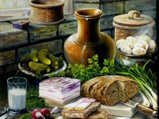Собирать пазл Казачий завтрак онлайн