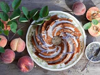 Собирать пазл Кекс и персики онлайн