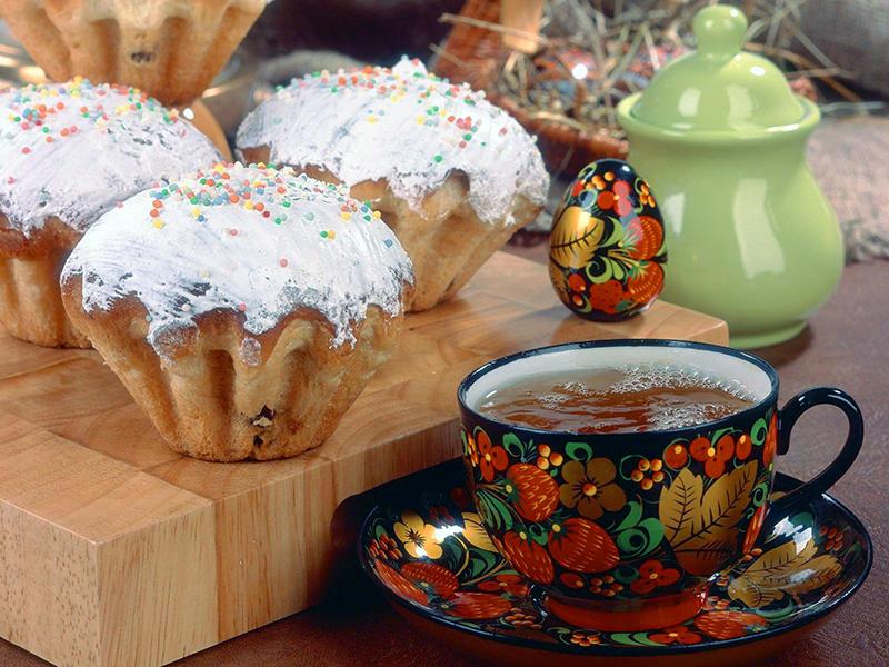 Пазл Собирать пазлы онлайн - Кексы и чай