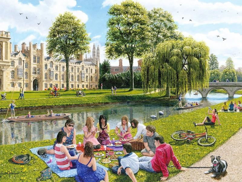 Пазл Собирать пазлы онлайн - Кембридж