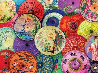 Собирать пазл Китайские зонтики онлайн