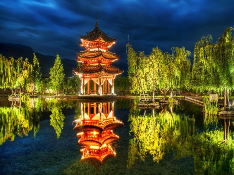 Пазл Собирать пазлы онлайн - Китай парк
