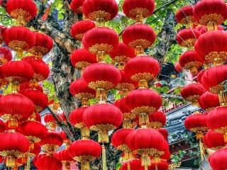 Собирать пазл Китайские фонарики онлайн