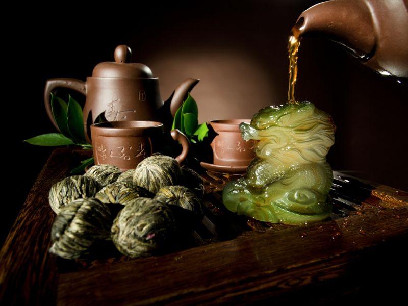 Пазл Собирать пазлы онлайн - Китайский чай