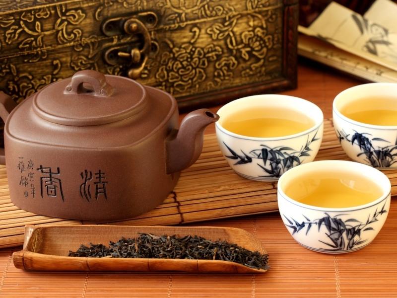 Пазл Собирать пазлы онлайн - Китайское чаепитие