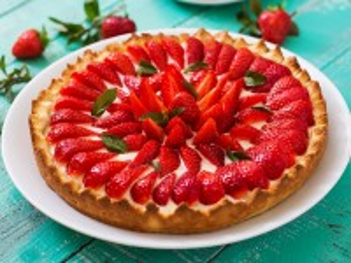 Собирать пазл Клубничный пирог онлайн