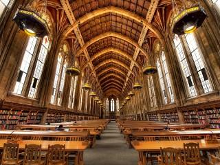 Собирать пазл Книги в университете онлайн