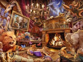 Собирать пазл Книжная магия онлайн