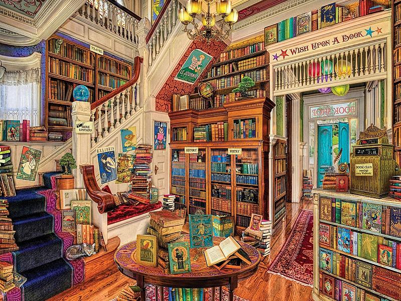 Пазл Собирать пазлы онлайн - Книжный магазин