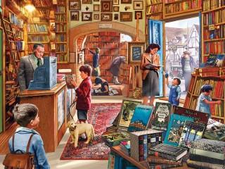 Собирать пазл Книжный магазин онлайн